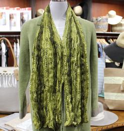 Wrinkle Scarf Snake Green