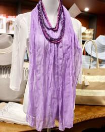 Wrinkle Scarf Solid Colour Violet