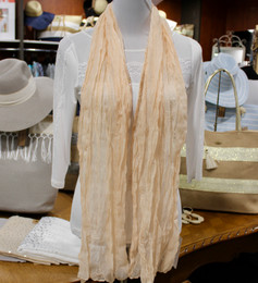 Wrinkle Scarf Solid Colour Champagne