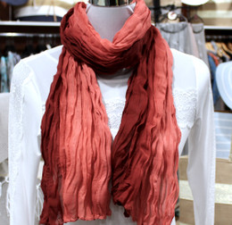 Wrinkle Scarf Ombre Rose Wood