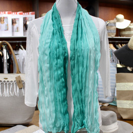 Wrinkle Scarf Ombre Green