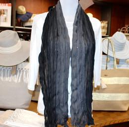 Wrinkle Scarf Ombre Black-Grey