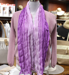 Wrinkle Scarf Ombre Lavender