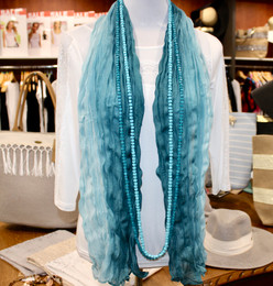 Wrinkle Scarf Ombre Seagreen-Blue