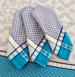 Marius Blue French Jacquard Napkin Made in France