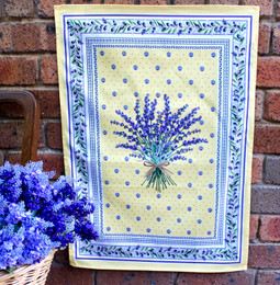 Lauris Yellow French Tea Towel Made in France