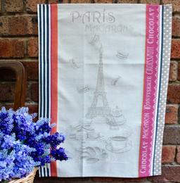 Macarons Jacquard Tea Towel Made in France