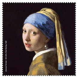 Johannes Vermeer - Girl with a Pearl Earrings Microfiber Cleaning Cloth Made in France