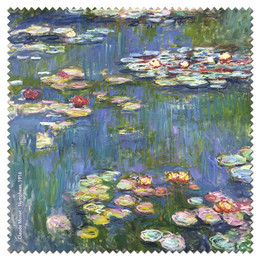 Claude Monet Nympheas  1Microfiber Cleaning Cloth Made in France