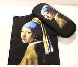 Johnnes Vermeer Girl with the Pearl Earrings Hard Glasses Case with Microfibre Cloth