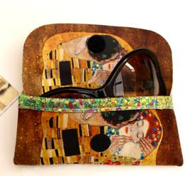Gustav Klimt The Kiss Soft Velour Glasses  Case Made in France