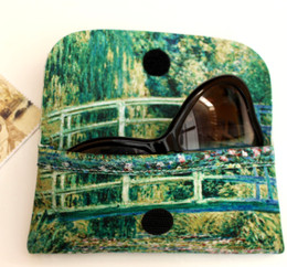 Claude Monet Japanese Bridge and Water Lilies Soft Velour Glasses  Case Made in France