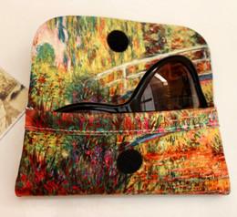 Claude Monet Japanese Bridge Soft Velour Glasses  Case Made in France