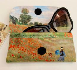 Claude Monet Poppy Field Soft Velour Glasses  Case Made in France