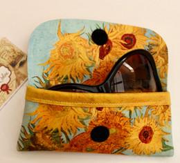 Vincent Van Gogh Vase with Twelve Sunflowers Soft Velour Glasses  Case Made in France