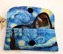 Vincent Van Gogh Starry Night Soft Velour Glasses  Case Made in France
