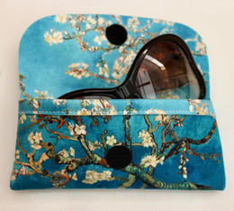 Vincent Van Gogh Blossoming Almond Tree Soft Velour Glasses  Case Made in France