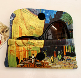 Vincent Van Gogh Cafe Terrace at Night Soft Velour Glasses  Case Made in France