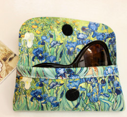 Vincent Van Gogh Irises Soft Velour Glasses  Case Made in France