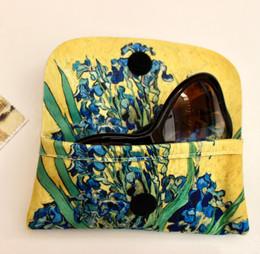 Vincent Van Gogh Vase with Irises Soft Velour Glasses  Case Made in France