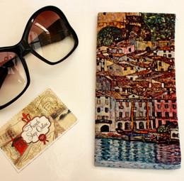 Gustav Klimt Malcesine on Lake Garda Soft Velour Sunglasses Pouch Made in France