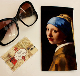 Johannes  Vermeer Girl with a Pearl Earring Soft Velour Sunglasses Pouch Made in France