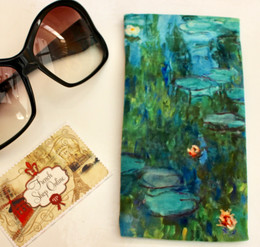 Claude Monet Nympheas Soft Velour Sunglasses Pouch Made in France