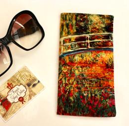 Claude Monet Japanese Bridge Soft Velour Sunglasses Pouch Made in France