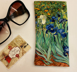 Vincent van Gogh Irises Soft Velour Sunglasses Pouch Made in France