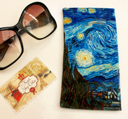 Vincent van Gogh Starry Night Soft Velour Sunglasses Pouch Made in France