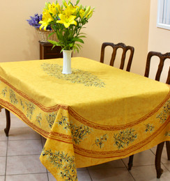 Clos des Oliviers YellowFrench Tablecloth155x250cm 8seats COATED Made in France