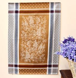 Coteau Cinnamon Jacquard Tea Towel Made in France