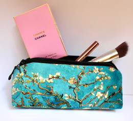 Vincent van Gogh Blossoming Almond Tree Velour Cosmetic/Pencil/Glasses Case Made in France