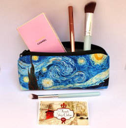 Vincent van Gogh Starry Night Velour Cosmetic/Pencil/Glasses Case Made in France