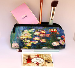 Claude Monet Nympheas 1  Velour Cosmetic/Pencil/Glasses Case Made in France