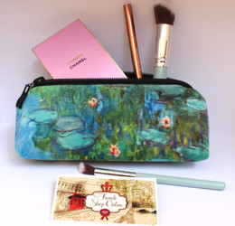 Claude Monet Nympheas 2  Velour Cosmetic/Pencil/Glasses Case Made in France