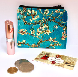 Vincent van Gogh Blossoming Almond Tree Velour Coin Purse Made in France