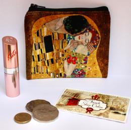 Gustav Klimt Kiss Velour Coin Purse Made in France