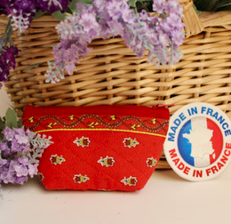 Coin/Cosmetic Bag Avignon Red Made in France