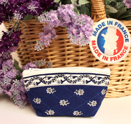 Coin/Cosmetic Bag Avignon Blue Made in France