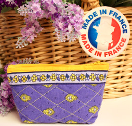 Coin/Cosmetic Bag Marat Bastide Blue Made in France