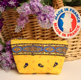 Coin/Cosmetic Bag Marat Tradition Yellow Made in France