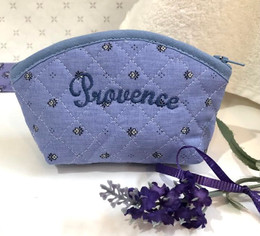 Coin/Cosmetic Bag Calissons Lavender Made in France