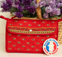 Make-up / Toiletry Bag Medium Marat Avignon Red Made in France