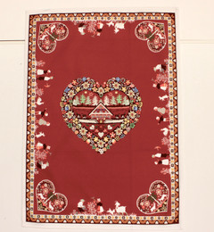 Plagne Burgund French Tea Towel Made in France