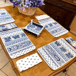 Marat Bastide White Quilted Placemat COATED Made in France