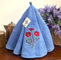 Poppy Blue French Round Hand Towel