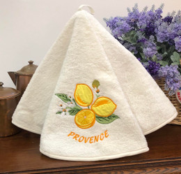 Lemon Ecru French Round Hand Towel
