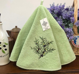 Olives Green French Round Hand Towel
