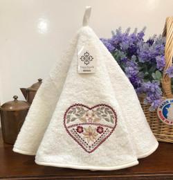 Edelweiss Ecru French Round Hand Towel